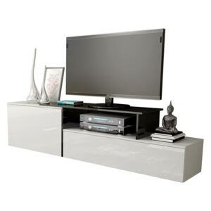 FURNITOP Floating TV Stand SIGMA 3A white / black