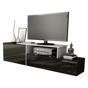 FURNITOP Floating TV Stand SIGMA 3C black / white