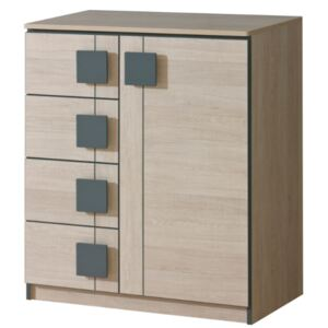 FURNITOP Chest of Drawers1D 4SZ GUMI GM3