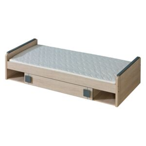 FURNITOP Bed 80 with Bedding Storage GUMI GM13