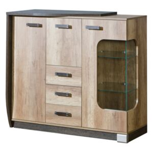 FURNITOP Chest of Drawers 2D 4SZ ROMERO RM7L