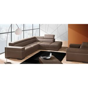 FURNITOP Corner Sofa PARYS with Sleep Function and Bedding Container