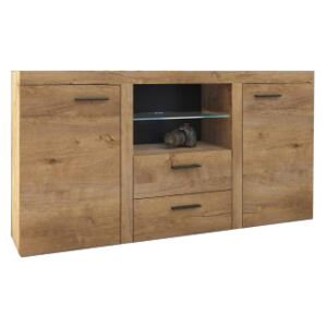 FURNITOP Chest of Drawers RUMBA/RODOS 2D2SZ lefkas/lefkas