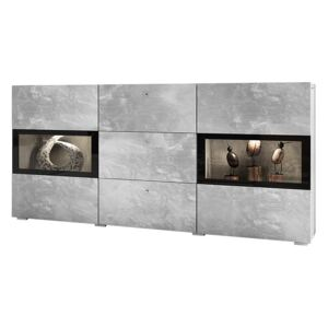 FURNITOP Chest of Drawers BAROS bright concrete