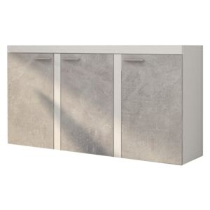 FURNITOP Chest of Drawers RUMBA/RODOS 3D light concreto/white