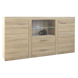 FURNITOP Chest of Drawers RUMBA/RODOS 2D2SZ sonoma/sonoma
