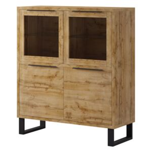 FURNITOP Large Chest of Drawers 2D HL42 HALLE Wotan Oak