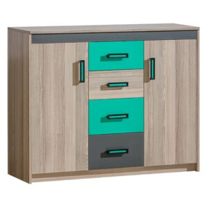 FURNITOP U11 Chest of Drawers 2D4SZ TIMO