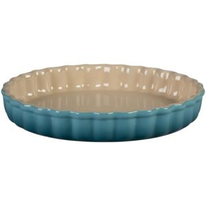 Le Creuset 28cm Stoneware Fluted Flan Dish Teal