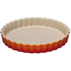 Le Creuset 28cm Stoneware Fluted Flan Dish Volcanic