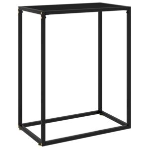 Console Table Black 60x35x75 cm Tempered Glass