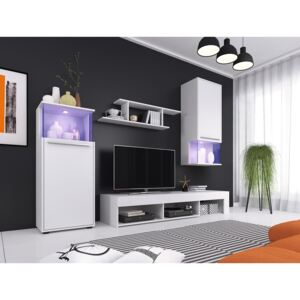 FURNITOP Wall Unit PUNCH 1 White / White