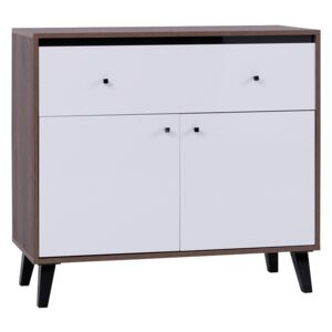 FURNITOP Chest Of Drawers 2D1SZ OVG5 OVIEDO GLOSS