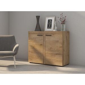 FURNITOP Chest of Drawers RUMBA/RODOS 2D Oak Lefkas