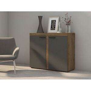 FURNITOP Chest of Drawers RUMBA/RODOS 2D graphite/lefkas