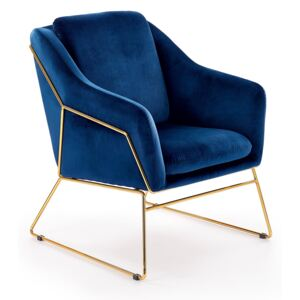 FURNITOP Lounge chair SOFT 3 navy blue
