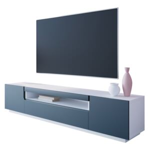 FURNITOP TV Cabinet DONE 200 white / navy blue