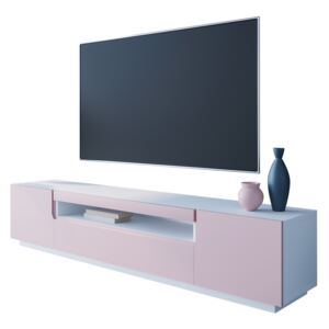 FURNITOP TV Cabinet DONE 200 white / powder pink