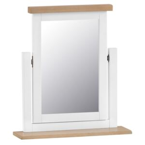Suffolk White Painted Oak Dressing Table Mirror