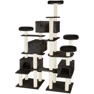 Tectake 403921 cat tree entissar, adventure towers for cats with scratching posts - black