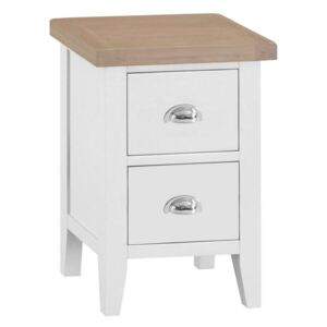 Suffolk White Painted Oak Small Bedside Table
