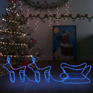 Reindeer and Sleigh Christmas Decoration Outdoor 576 LEDs
