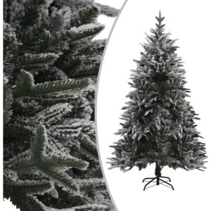 Artificial Christmas Tree with Flocked Snow Green 150 cm PVC&PE