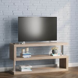 Miami S Shaped TV Stand Ash