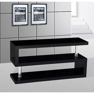 Miami S Shaped TV Stand Black