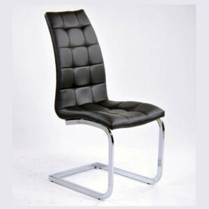 Contemporary White Barcelona Dining Chair Black