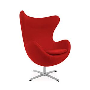 Arne Jacobsen Style Modern Cashmere Egg Chair Red