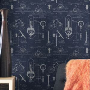 Patents Blue Wallpaper by Mind The Gap