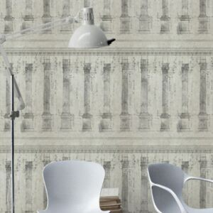 Colonnade Sand Wallpaper by Mind The Gap