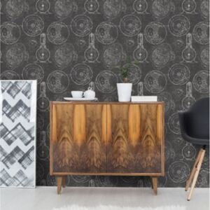 Horlogerie Anthracite Wallpaper by Mind The Gap