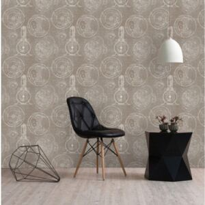 Horlogerie Taupe Wallpaper by Mind The Gap