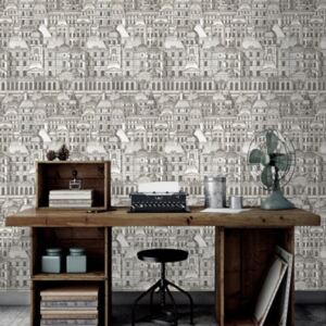Louvre Black Wallpaper by Mind The Gap