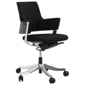 Fully Adjustable Retro Black and Chrome Office Chair