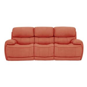 Relax Station Rocco 3 Seater Fabric Power Rocker Sofa with Power Headrests - Orange