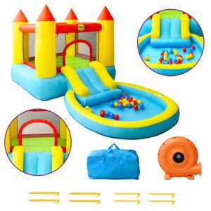 Happy Hop Inflatable Bouncer with Slide 200x365x190 cm PVC
