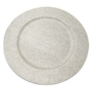 Gold Glitter Glass Charger Plate