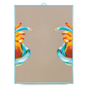 Toiletpaper Mirror - / Hands & snakes by Seletti Multicoloured