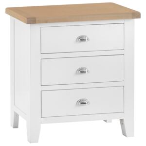 Suffolk White Painted Oak Chest of 3 Drawers