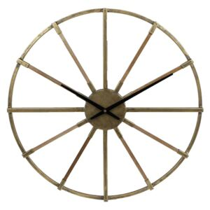 Gifts Amsterdam Wall Clock Leicester Metal Gold 60cm