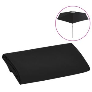 Replacement Fabric for Outdoor Parasol Black 300 cm