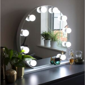 Audrey Round Hollywood Vanity Mirror with Lights