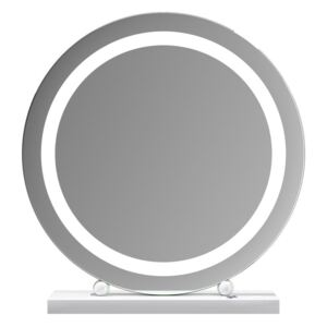 Lucille Hollywood Round Vanity Mirror with Halo LED Light