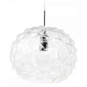 Faceted Glass Geometric Pendant Light, Clear Colour: Clear