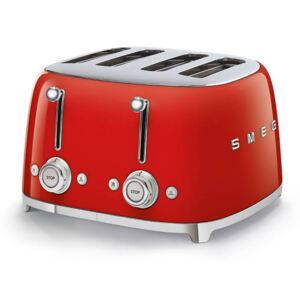 50s RETRO 4 SLOTS TOASTER - Red