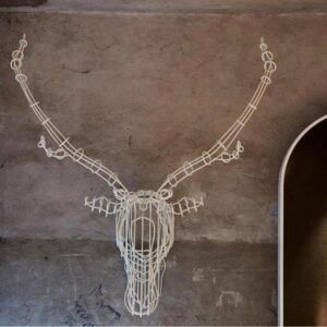 SMALL STAG HEAD WALL ART