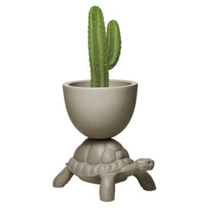 TURTLE CARRY PLANTER AND CHAMPAGNE COOLER - Dove Grey